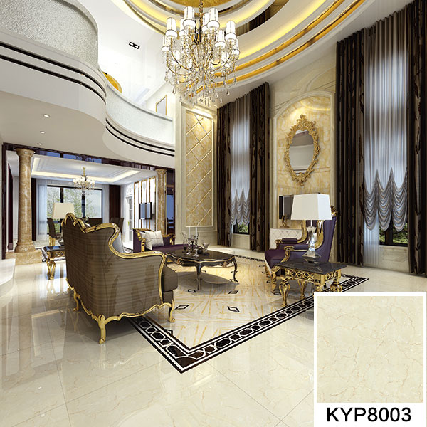 金艾陶大理石瓷砖金线莎安娜kyp8003瓷砖客厅效果图