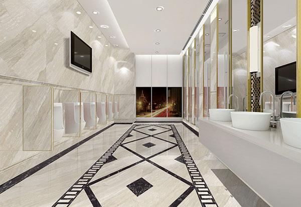 金艾陶全抛釉瓷砖天堡石kys8062高档洗手间效果图