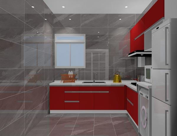 廚房墻磚和地磚效果圖